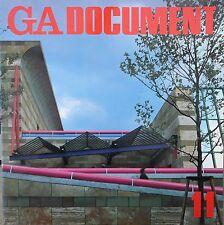 GA DOCUMENT 11   Stirling, Isozaki, Ungers, Fehn, Piano... 1984  Architecture