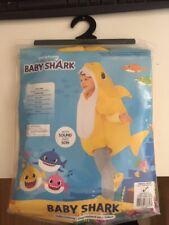 BABY SHARK - YELLOW HALLOWEEN COSTUME - CHILD SMALL AGE 3-4 YEARS - PLAYS MUSIC