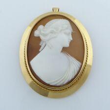 um 1900:  Kamee 18 Karat  (750er) Gold Darstellung einer klassischen Schönheit