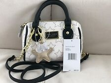 BETSEY JOHNSON SMALL HANDBAG PURSE MINI SATCHEL XBODY BONE/BLACK NWT