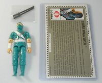 1992 GI Joe Mail Away Cobra Ninja Viper Figure Complete File Card Black Swords