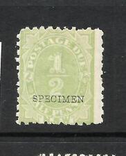NEW SOUTH WALES 1891-92   1/2d   POSTAGE DUE    MLH  SPECIMEN   SG D1s