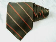 """Brooks Brothers MEN'S TIE GREEN/STRIPED 3.75"""" 58"""" USA"""