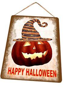 Happy Halloween Metal door Sign Trick or Treat Hanging Halloween Plaque