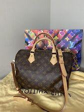 Louis Vuitton Speedy 30 Bandouliere Monogram Shoulder Crossbody Bag