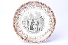"Plate Earthenware Opaque Sarreguemine. "" Course Astronomy Comic Relief"