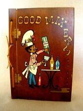 Vintage Good Mixers~Lyon & Helms~Mixology Bar Book~Hard Wood Cover~1967~Euc