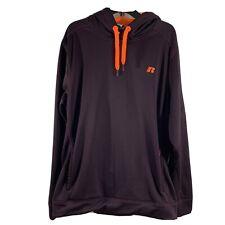 Russell Men's Hoodie 2XL / 2XG Maroon/Orange Polyester Fleece Lining