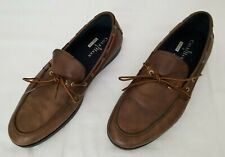 Mens Sz 11M Brown Cole Haan Nikeair Mason Camp Moc Toe Leather Shoes C11089 used