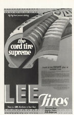 1918 Lee Tires: The Cord Tire Supreme Vintage Print Ad