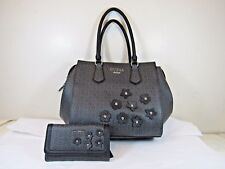 """Brand NWT GUESS Hand bag w/ wallet combo """"Society"""" in Black  Free USA ship"""