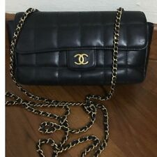 Chanel Mini Square Quilted Lamb Skin Leather Flap Bag
