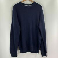 Weatherproof Mens Blue Long Sleeve Crew Neck Textured Sweater Size XL