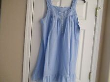 NWT ADONNA KNEE LENGTH 100% COTTON NIGHTGOWN BLUE CHAMBRY SIZE X-LARGE (XL)