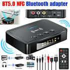 Bluetooth 5.0 Transmitter Receiver Wireless NFC Audio Adapter 3.5mm AUX To 2 RCA