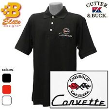 C1 Corvette Embroidered Men's Cutter & Buck Ace Polo Shirt BDC1EP8015
