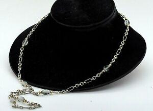 David Yurman 18K YG/925 Sterling silver Bijoux aquamarine chain necklace