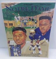 Notre Dame Fighting Irish ND November 2 1991 Football Game Program v Navy