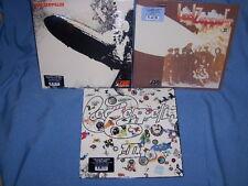 LED ZEPPELIN SUPER SET OF 3 180 GRAM VINYL LP's #1 #2 & #3 SEALED BRAND NEW