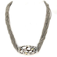 Cartier 18K Yellow Gold & Sterling Silver Abstract Bead Multi Strand Necklace
