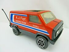 "Vintage Tonka Aj Foyt Racing Team Toy Van, Just Over 8"" Long with Figurine"