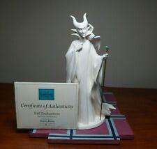 Wdcc Disney Sleeping Beauty - Maleficent Whiteware & Base w/Box & Coa - crazing