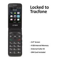 Tracfone Alcatel A405 Flip Prepaid Cell Phone (Refurbished)