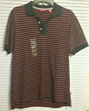 IZOD MEN'S SUMMER TEXTURE POLO SHIRT - COLOR BLUE AND RED - SIZE SMALL -  NWT