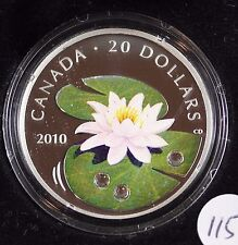 **2010** Crystal Water Lily, RCM Proof Silver $20 Dollar Coin