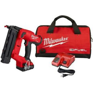 Milwaukee 2746-21Ct M18 FUEL 18V 18 Gauge Brad Nailer Kit