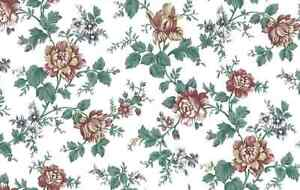 Shabby Chic Floral Wallpaper Vintage Style Satin Finish UK 90040 Double Rolls