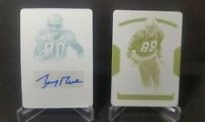 2017 NATIONAL TREASURES AUTOGRAPHED JERRY RICE 1/1 PRINTING PLATE 2018 1/1 PLATE