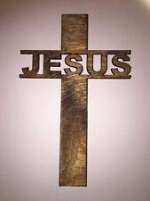 "Jesus Cross, Laser cut Birch Wood, Wall Hanging, Ornament, Faith, Church, 5"""