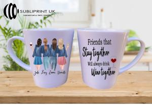 Best Friend / Sister / Cousin / Colleague Personalised - Latte Mug - Four Person