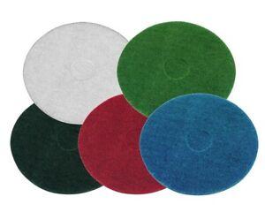 "Floor machine Pads  Buffing Polishing Scrubbing Red Green Black 15"" 17"""