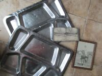 4 Early c1928 USMC Items, ID'd Photo, Mess Plates, Haiti, SHANGHAI, MARINE CORPS