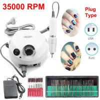 Electric Nail Manicure Machine 35000 RPM Drill Machine + 30Pc Drill Bit Pedicure