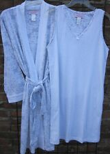 New  Beautiful Robe /& Gown Set XL      3X   Gray or Pink