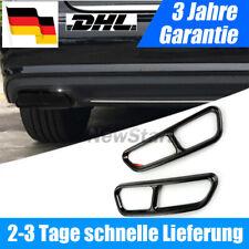 2x für Audi A6 C7 A7 A12 Black Chrome Auspuffblenden Edelstahl Abdeckung Auspuff