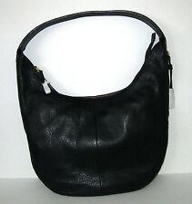 New Halston Heritage Black Pebbled Leather Hobo Slouchy Shoulder Bag  $395 #1