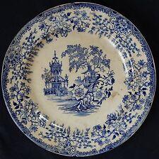 Lot n°20) Assiette ancienne (19ème) faïence (CREIL?) décor Japonisant (Tonkin?)