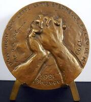Medal 1973 Eugene Delacroix S Eugene Préault Emile Fox Hands Attachments Medal