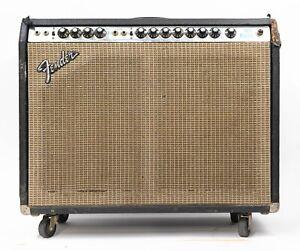1976 Fender Twin Reverb Silverface 2 x 12 Guitar Combo Amplifier