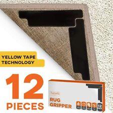 12pc Premium Large Size Anti Curling Carpet Tape Rug Gripper New