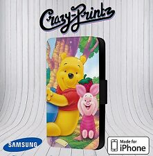 Winnie The Pooh Piglet Fits iPhone & Samsung Leather Flip Case Cover L13