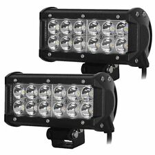 12 LED FOG LIGHT/WORK LIGHT BAR SPOT BEAM OFF ROAD DRIVING LAMP 2 PC 36W CREE