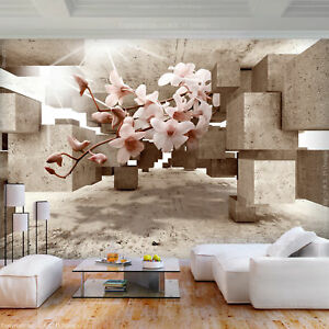 VLIES FOTOTAPETE Blumen Orchidee braun Abstrakt 3D effekt TAPETE WANDBILDER XXL