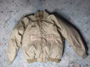 Men's COLUMBIA reversable brown hunting jacket poly fill Sz. L