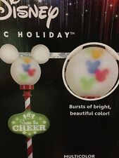 Disney 5' Mickey Mouse Christmas Lamp Post ~ Multicolor Swirling LED Ears ~ New
