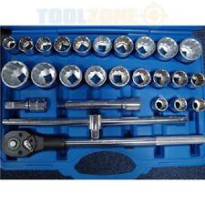 PRO 27 pièce 3/4 Clé impérial / métrique chrome vanadium prise Set Outils AF /